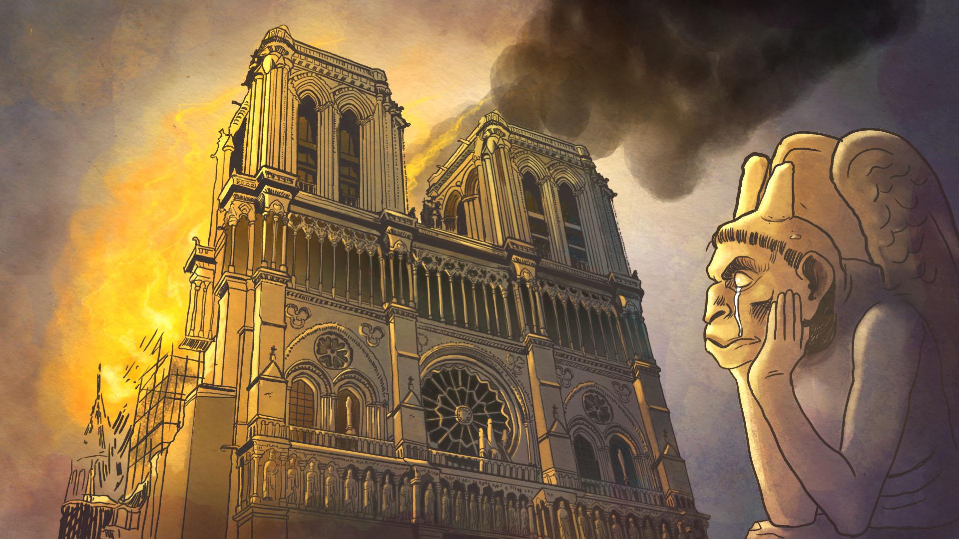 Notre Dame, la historia de un incendio