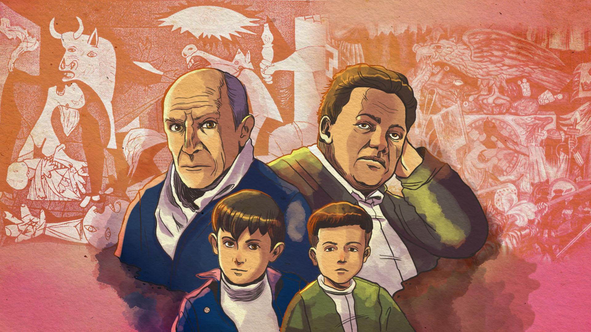 Los Niños Pablo Picasso Y Diego Rivera